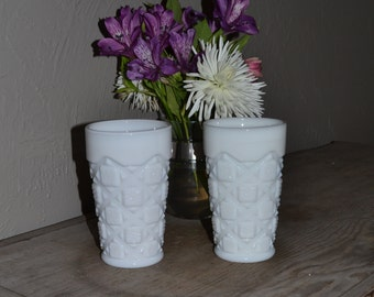 Westmoreland Set of 2 Tumblers in Old Quilt - Royal Hill Vintage