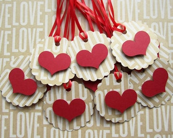 Scalloped Heart Tags