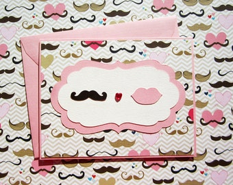 Moustache Love - Pink Version