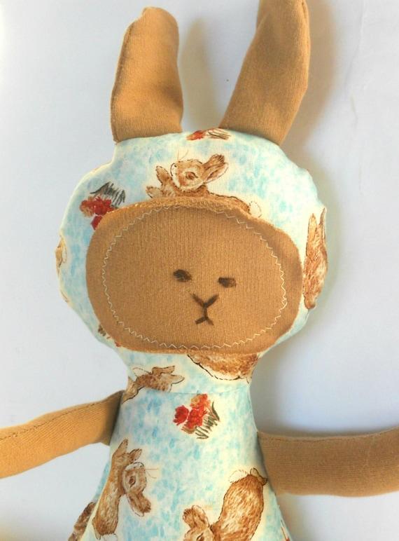 Squishy Bunny Etsy : Bunny Rabbit Toy Soft Doll Plush Natural Eco Friendly
