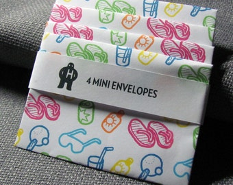 Mini Envelope set of 4: A Day on the Beach
