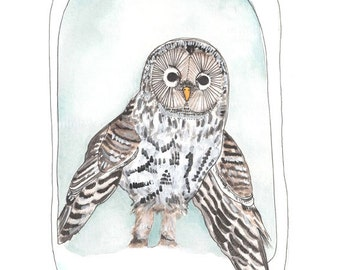 Wall Art - Home Decor Print - Snow Owl - Owl Print - Illustration - Art Prints - Snow Owl Art - Nursery Decor - Art Print 8x10 - Owly