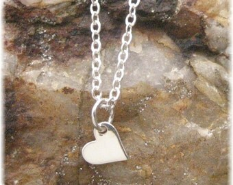 Tiny Heart Necklace - Sterling Silver