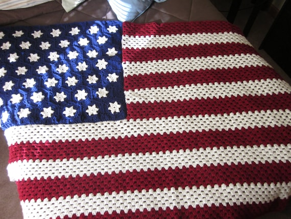 Knitting Pattern For American Flag Afghan : Unavailable Listing on Etsy