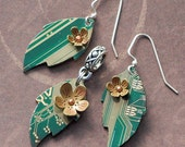 Leaf Circuit Set - copper and brass