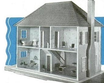 Vintage Dollhouse Plans - Instant Delivery