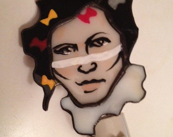 Adam Ant stained glass portrait night light by Glass Action