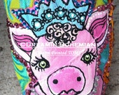 Hand Painted TOMS Whimsical Farm Animals in Bright colors with BLiNg TOMS included
