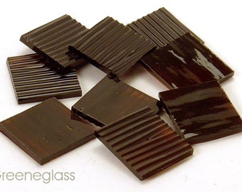 Brown Chord Glass for Mosaics and Stained Glass - Reg Pack - Diamond, Triangles, Rectangles, Squares, Strips