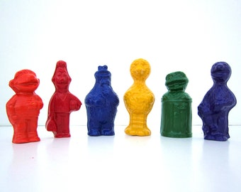 Kids' TV SHOW Inspired CRAYONS Toys - Birthday Party Pack Set of 6 Favors - In Blue, Yellow, Green, Red, Orange & Purple