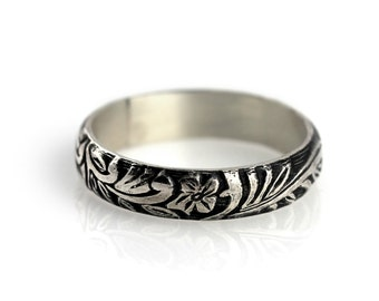 Floral ring - sterling silver ring