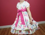 Girl dress Easter birthday flower girl wedding custom twirl dress size 12 months to 12 yrs - Emilie