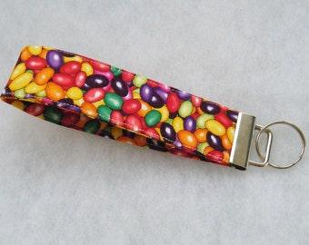 Key Fob wristlet - Jellybeans