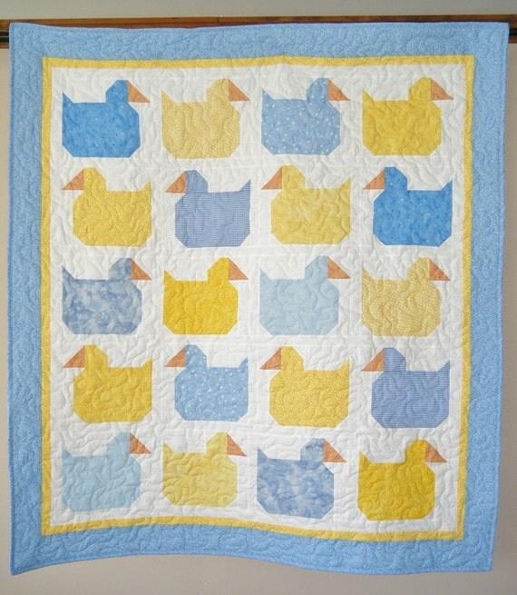 Baby Ducks baby quilt