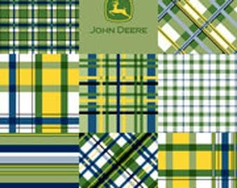 MadieB John Deere Tractor Toddler Sheet Set or Crib Sheet Set