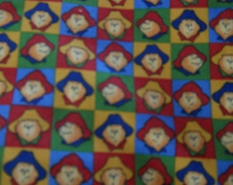 MadieBs Custom Paddington Bear in Primary Colors Toddler Crib Sheet set 3 piece personalized