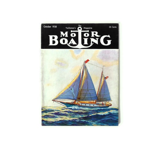Vintage Motor Boating Magazine October 1938 Issue