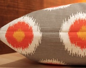 Add Personalization - DESIGNER Pet Bed Duvet Cover - Stuff with Pillows - YOU Choose Fabric - Ikat Domino Chili Pepper shown