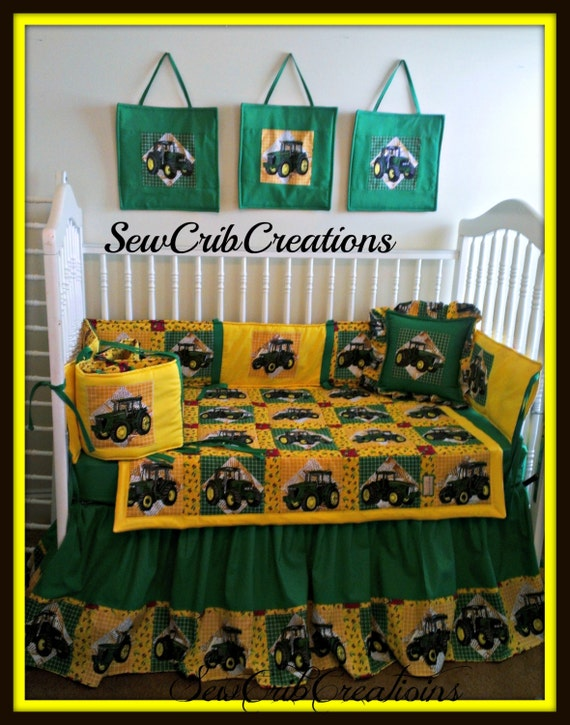 John Deere Crib Sets For Boys : Heartland john deere crib bedding set by sewcribcreations