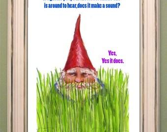 Gnome poop art print