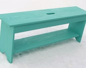 Wood Bench, Storage Bench, Entry Way Bench, Coffee Table, TV Bench, Seating, Painted Furniture, Shoe Boot Storage, Cottage Beach