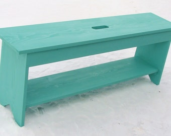 Entryway Bench Wood Bench Storage Bench Coffee Table Shoe Boot Storage Bedroom Bedroom Seating Painted Furniture Cottage Beach Custom