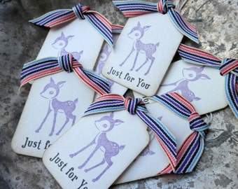 Happy Deer - Set of 7 Just For You Gift Tags