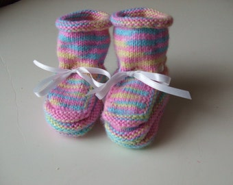 Handknit Baby Booties and Why I Made Them - Celebrating Spring