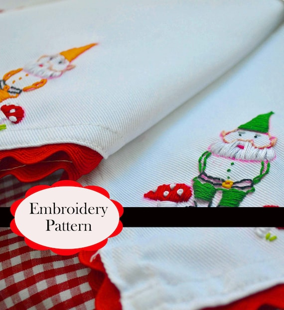 Gnome Embroidery Pattern