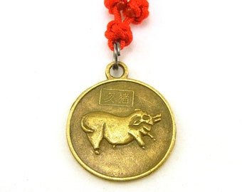 Chinese zodiac pig boar necklace