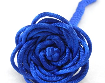 Chinese knotting single rose - can be made with custom colors
