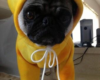 Custom sized Fleece Dog Hoodie