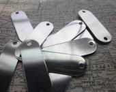 10 TUMBLED Aluminum Rounded Rectangle Blanks - 18 Gauge