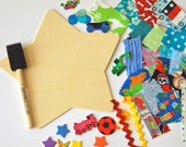 Kids Fabric Collage Craft Kit : Boy Theme/Star