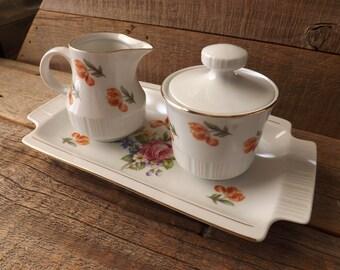 Vintage Creamer Sugar Bowl, Creamer and Sugar Set, Creamer and Sugar Bowl, Made in Germany