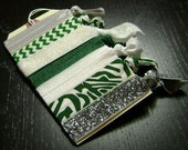 New York Jets / Michigan State Spartans / Marshall Thundering Herd / Colorado State Rams / Babson College Beavers Hair Ties ... 7ct.