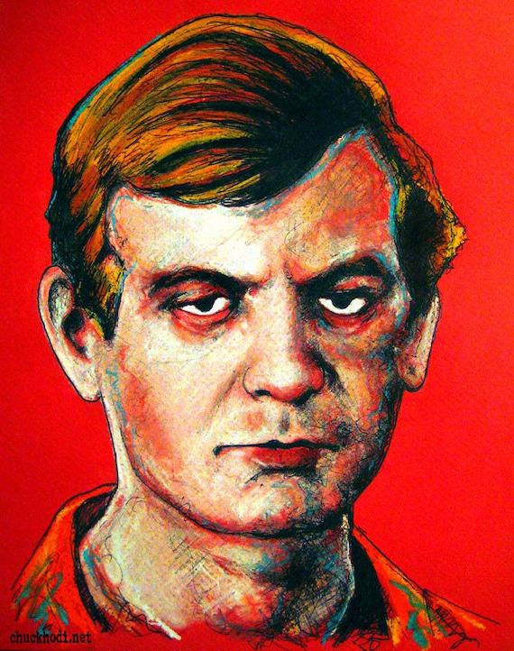 Jeffrey Dahmer - Original Drawing - Serial Killer Cannibal Gay Dark Art Horror Gothic Scary True - il_570xN.422667116_p1w7