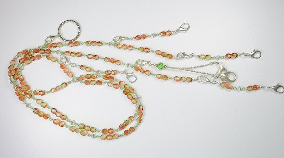Tropical Citrus Beaded Needlework Chatelaine