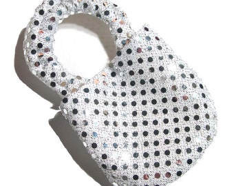 Disco Silver Soft Soled Baby Shoes 12-18mo