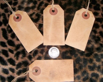 Wholesale **** 300**** medium blank, Primitive,Distressed,VintageStyle,Coffee stained,Rustic  HangTags with String and shipping included