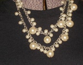 Multi Length Pearl Necklace for weddings, prom, any formal event