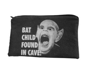 Bat Boy Makeup Bag / Pencil Pouch
