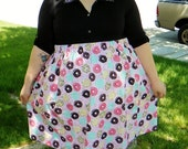 Yummy Donut Pink Cotton Plus Size Skirt - Custom size