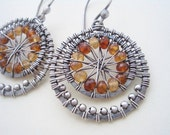 Soleil---Sterling Silver/Hessonite Garnet