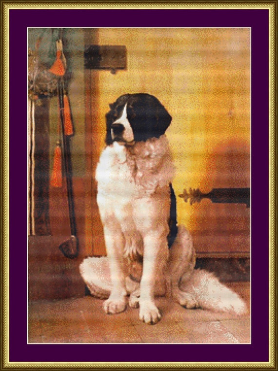 St. Bernard - Counted Cross Stitch Pattern
