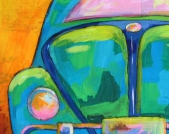 Original Acrylic Painting - VW Bug
