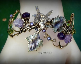 Amethyst Faerie  Bracelet