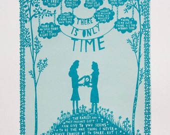 There Is Only Time, Valentine's Day Screen Print (Woman/Woman)
