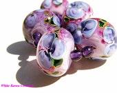 Seurat in Lavender Lampwork Beads