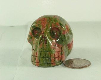 Unakite Skull-3